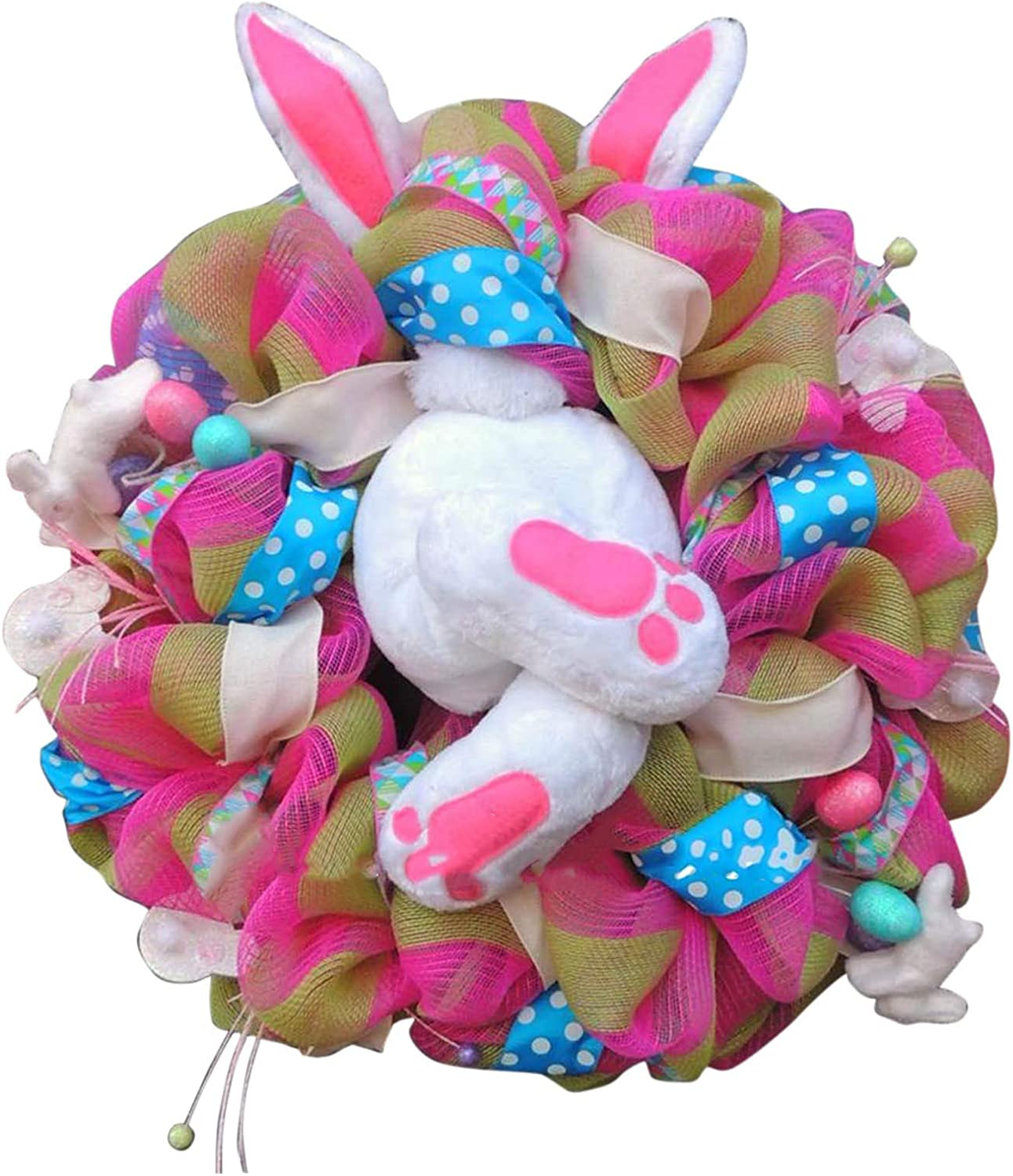 Artificial Eucalyptus Green Leaf Wreaths Easter Front Do Shipping included Rabbit Japan's largest assortment