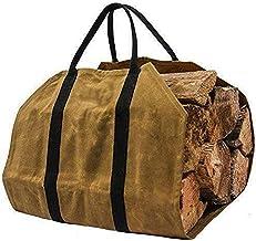 Saco de lenha Saco de lenha para lenha Porta-lenha para lareira Saco de lenha de lona de 16 onças Bolsa de lenha Acessório...