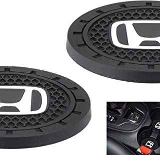 AOOOOP Car Interior Accessories for Honda Cup Holder Insert Coaster - Silicone Anti Slip Cup Mat for Honda Civic Accord Fit Insight Clarity CR-V HR-V Pilot Passport Odyssey (Set of 2, 2.75