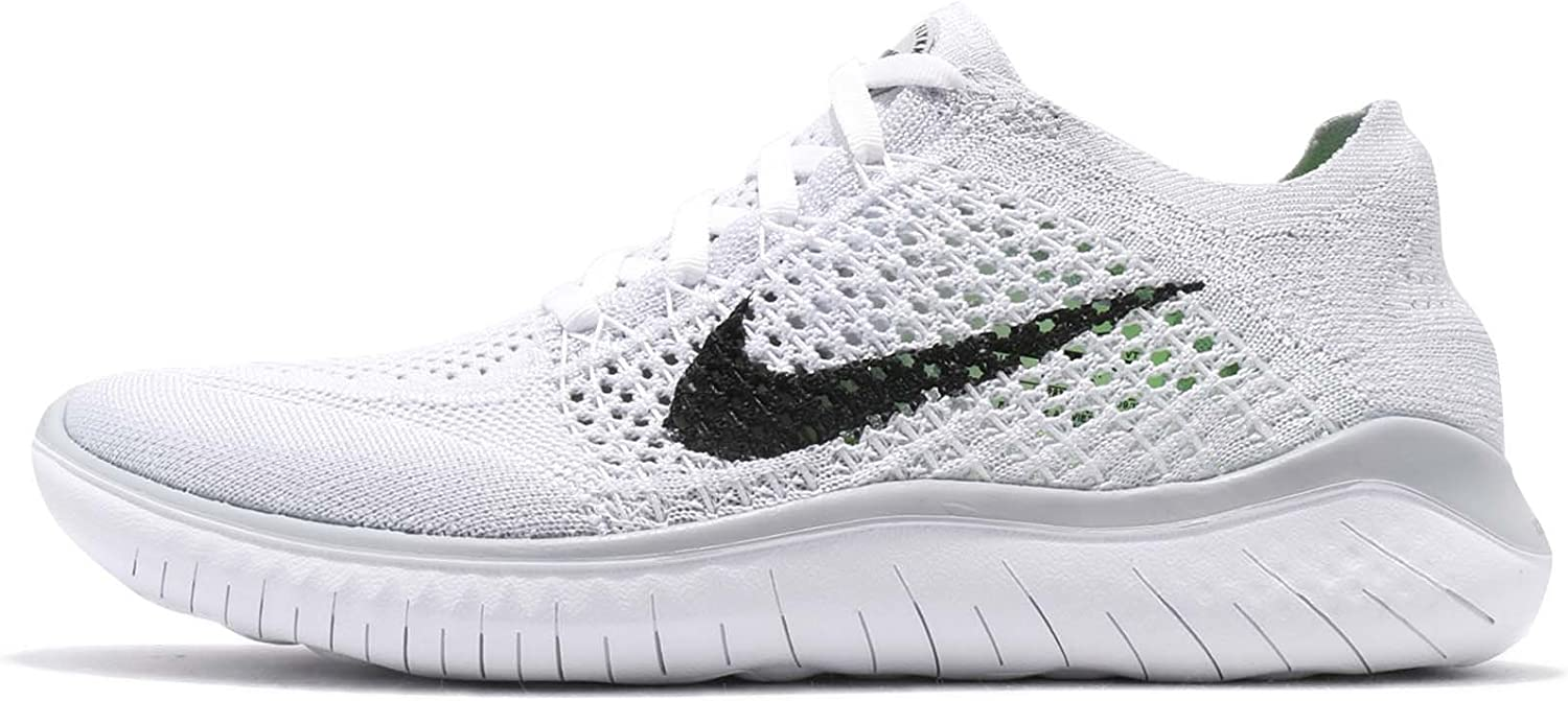 Nike Women's Free free shipping RN Flyknit 2018 Shoes 8.5 Running White excellence Grey