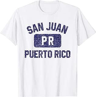 San Juan Gym Style Distressed Navy Blue Print T-Shirt