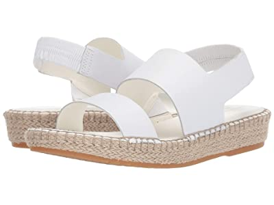 Cole Haan Cloudfeel Espadrille Sandal (Optic White Leather/Natural Jute/Gume) Women