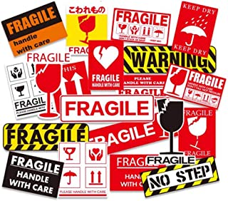 20 Pcs Anti-Collision Fragile Warning Signs Sticker Luggage Decoration Stickers Skateboard Guitar Decals Stickers