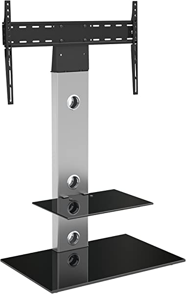 AVF FSL700LES A Media Component Lesina TV Floor Stand With Mounting Column For 32 To 65 Silver