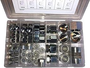 64 Pcs. O-Ring Face Seal ORFS Cap & Plug Assortment Kit – ORS Flat Face Hydraulic Fitting Set