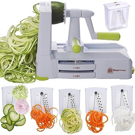 Spiralizer Ultimate 10 Strongest-and-Heaviest Duty Vegetable Slicer Best Veggie