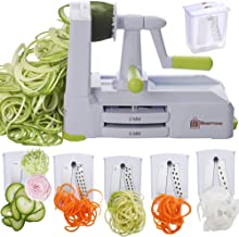 Brieftons 5-Blade Spiralizer (BR-5B-02): Strongest-and-Heaviest Duty Vegetable Spiral Slicer, Best Veggie Pasta Spaghetti ...