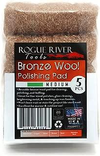 Rogue River Tools Bronze Wool Pads - Medium (5)
