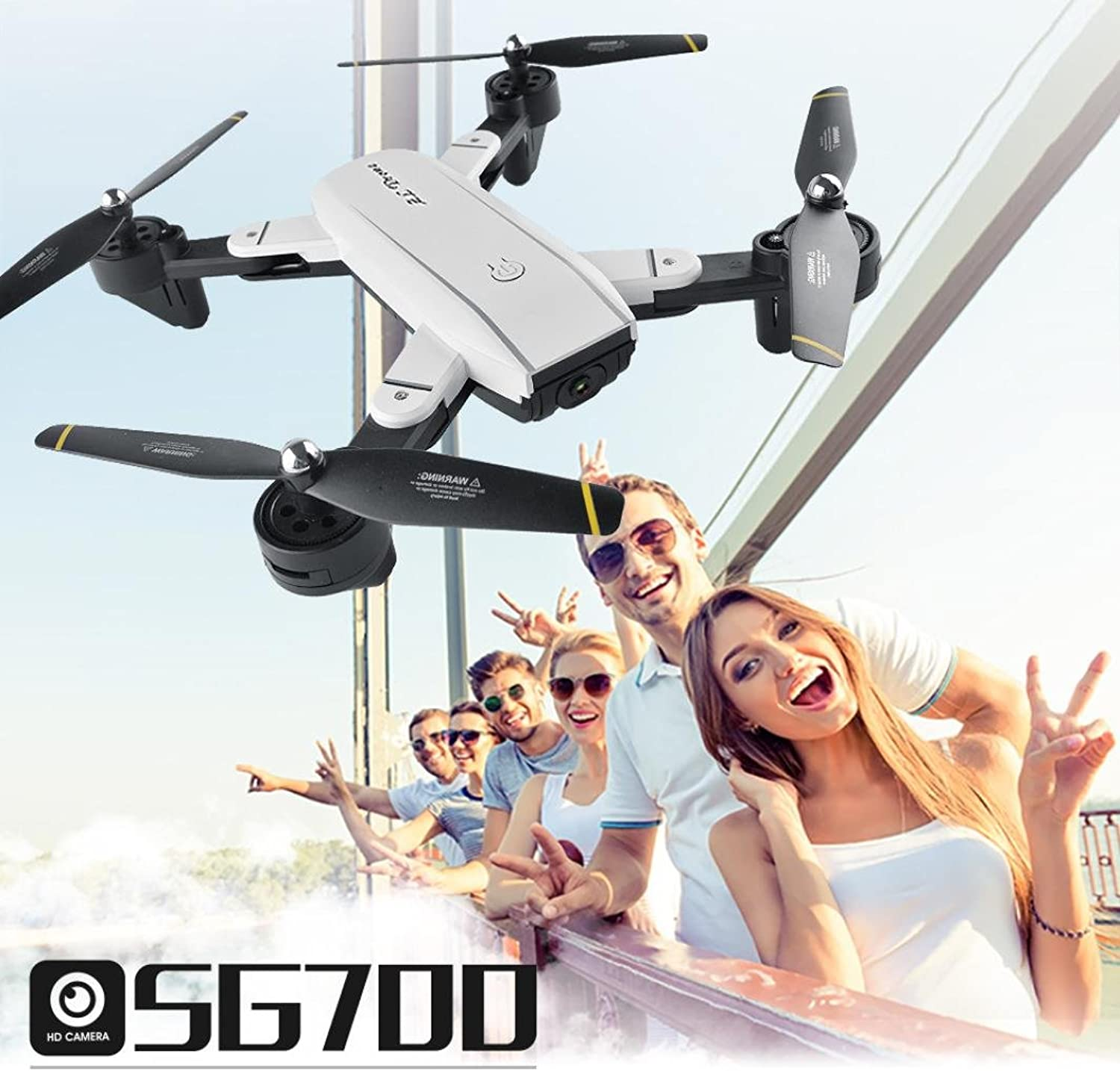 MuSheng TM SG700 Helicopter Quadcopter Drone 2.4Ghz 4 CH 6Axis Gyro 360° Hold WiFi 2.0MP Optical Flow Dual Camera