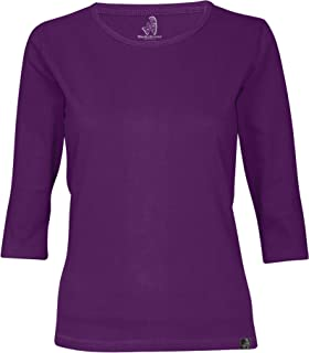 wackylicious Women's Pretty Colors Fashion 3/4 Half Sleeve T-Shirt