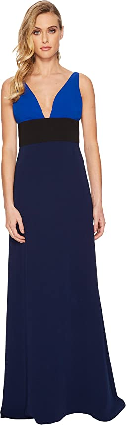 JILL JILL STUART - V-Neck Color Block Gown