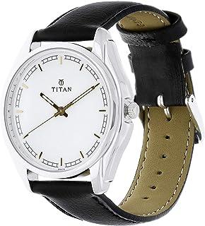 تيتان ساعة رسمية رجال انالوج بعقارب جلد - 1578SL06