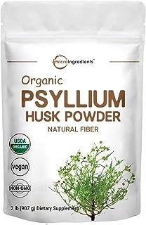 Psyllium Husk Powder Organic, 2 Pound (32 Ounce), Psyllium Husk Daily Fiber for Baking, Smoothie and Beverage, Keto Diet, ...