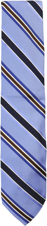 Altea Milano Men's Silk and Cotton Diagonal Stripe Grosgrain Necktie