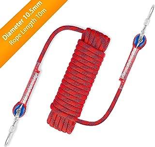 Awroutdoor Cuerda de Seguridad Cuerda de Escalada Profesional de Alta Resistencia para Escalar al Aire Libre y en Interiore Perfessional Rappelling Auxiliar, 10.5 mm de Diámetro