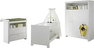 Trendteam Babyzimmer Umbaubettseiten Einstiegshilfe Eiche Sägerau Hell Babybett