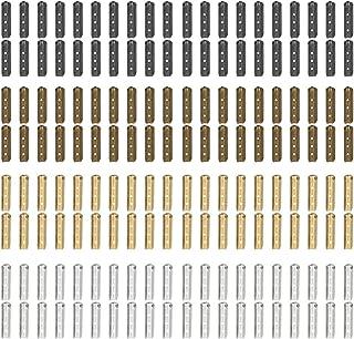 160 PCS Metal Aglets DIY Shoelaces Repair Shoe Lace Tips Replacement End (Assorted Colors) (bullet)