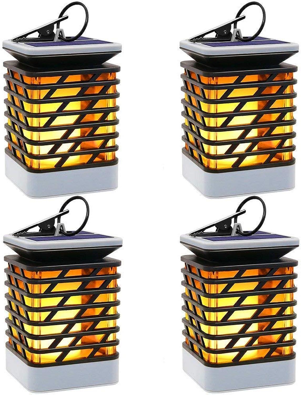 SEEKSUNG Solar Light 75 LED Wasserdicht Flackernde Flammen Licht Hngende Laterne, Weg, Hof, Party, Festival,L