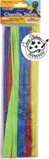 Creativity Street Chenille Stems/Pipe Cleaners 12 Inch x 4mm 100-Piece, Hot Assorted Colors