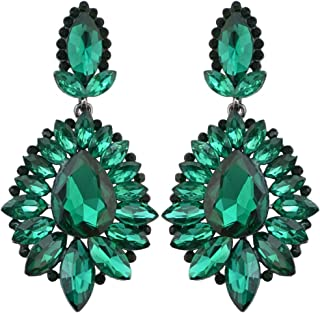 Luxury Drop Earring Inlay Crystal Rhinestone Dangle Long Earrings For Women Jewelry