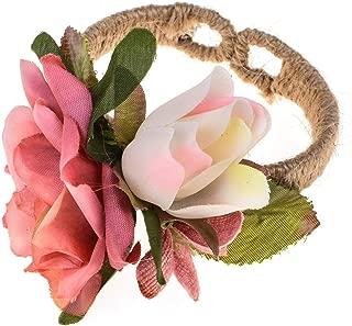 Prom Wedding Hawaiian Sweet Love Bridal Flower Wrist Band Corsage Girls Flower Bracelet for Women