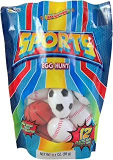 Candy Filled Sport Ball Shaped Party Favors, Bag of 12