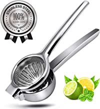 JOEVER Lemon Squeezer Stainless Steel Heavy Duty Manual Lime Citrus Press Juicer with Large Bowl