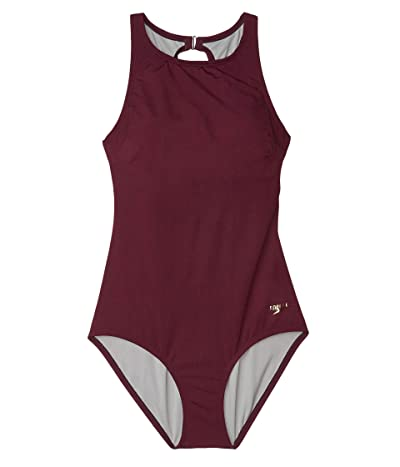 Speedo High Neck One-Piece (Potent Purple) Women