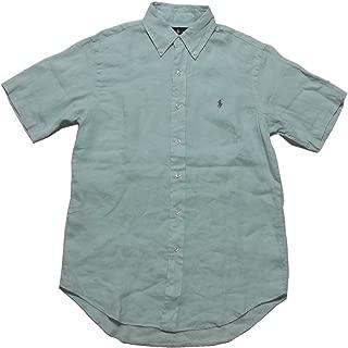 (ポロ ラルフローレン) 半袖 ボタンダウンシャツ リネン ライム系 Polo Ralph Lauren 997 [並行輸入品]