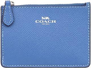 [コーチ] COACH 財布(コインケース) F12186 スカイブルー クロスグレーン レザー ミニ ID キーリング スキニー レディース [アウトレット品] [ブランド] [並行輸入品]