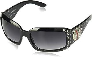 Cocomo Soul Black Rhinestone Baseball Sunglasses Zipper Case/Cleaning Cloth MOM