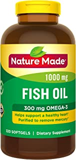 Nature Made Fish Oil 1,000 mg Softgels, 320 Count for Heart Health† (Packaging May Vary)