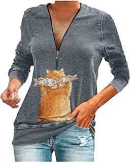 T Shirts Garfield Animal Sleeve Blouse