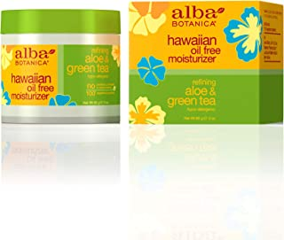 Alba Botanica Hawaiian, Aloe & Green Tea Oil-Free Moisturizer, 3 Ounce (Pack of 2)