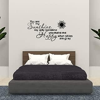 Empresal Wall Decal You are My Sunshine Vinyl Stencils Scripture Wall Ticker Bible Verse