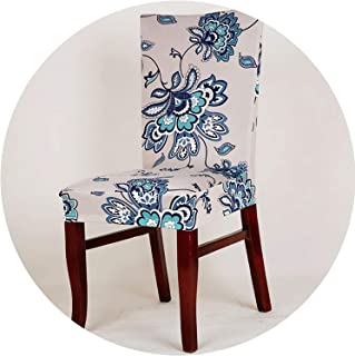 Pink-star Spandex Elastic Butterfly Printing Chair Protector Slipcover Kitchen Dining Chair Cover Removable Dustproof Decorative Seat Case,5,Universal