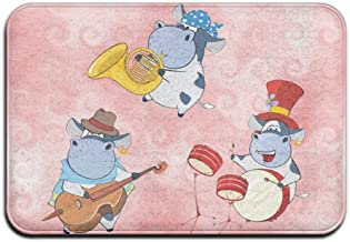 Playing Music Cow Funny Outdoor Mats Welcome Mat