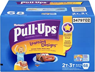Huggies Pull-Ups Learning Designs Training Pants for Boys, Giga Pack, Size 2T-3T, 68 Count