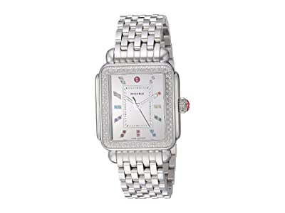 Michele Deco Diamond Carousel Dial (Silver) Watches