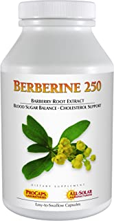 Andrew Lessman Berberine 250-720 Capsules – Barberry Root Extract. Naturally Supports Healthy Blood Sugars, Glucose and Ch...