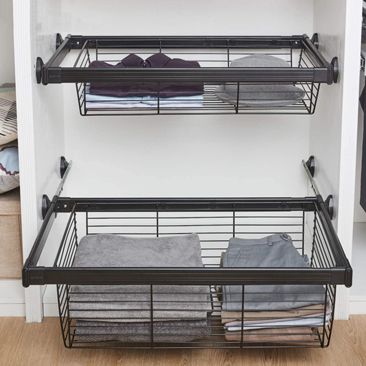 Ranking Attention brand TOP4 LJ Pull Out Wardrobe Cabinet Organizer Shelf Sliding Stainless