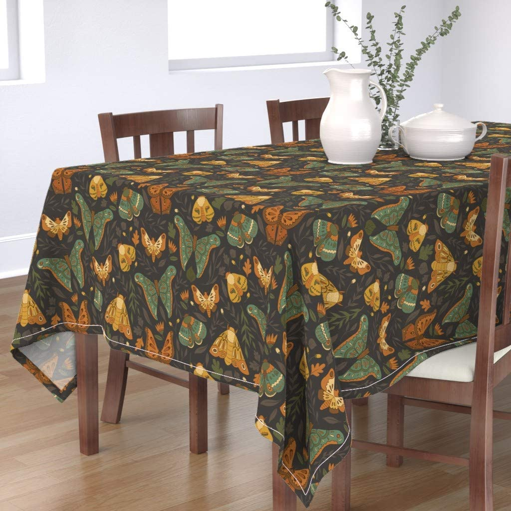 Roostery Spoonflower Denver Mall Tablecloth Autumn Moths Safety and trust Insect B Fall Bugs