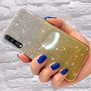 For for for Samsung A50 Glitter Bling Phone Cases A30 A70 A40 A60 A80 A90 šoft sịlicone TPU back Cover Fundas (Color : Yel...