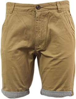 Love My Fashions Mens Shorts Twill Pinstripe Turn Up Lined Chino Cotton Cargo Combat Casual Summer Bottoms Size S M L XL
