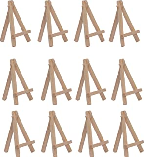 SL crafts 2.75 Inch By 4.7 Inch Mini Wooden Easels Display (Pack of 12 Easels)