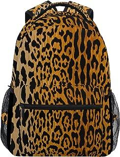 Women/Man Canvas Backpack Special Leopard Animal Prints Zipper College School Bookbag Daypack Travel Rucksack Gym Bag For Youth