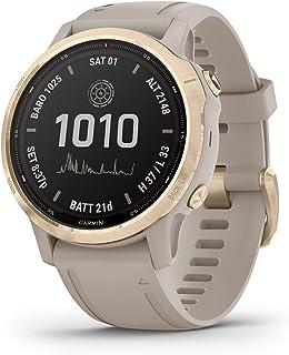 Garmin fēnix 6s Pro Solar, Smaller-sized Solar-powered Multisport GPS Watch, Advanced Training Features and Data, Light Go...