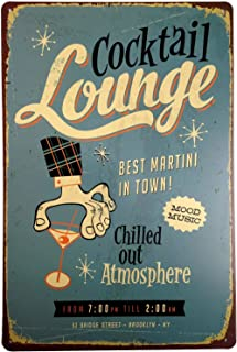 +Urbano Cocktail Lounge Vintage Retro Tin Sign Home Pub Bar Deco Wall Decor Poster Size 8