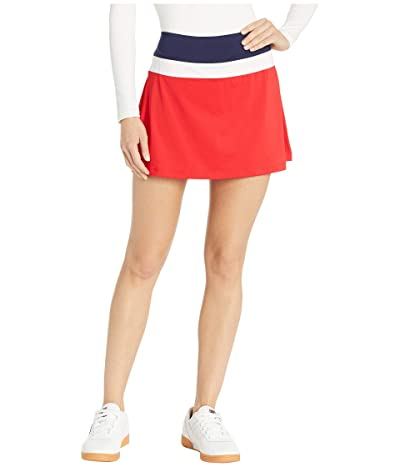 Fila Heritage Color Block Skort (Chinese Red/Navy/White) Women