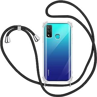 Huawei Y7a 6.67 Carcasa de Silicona Suave Case con Colgante Cordon Colgar Correa de Cuello para el tel/éfono Antichoque para M/óvil,Aguacate ZhuoFan Funda con Cuerda para Huawei P Smart 2021